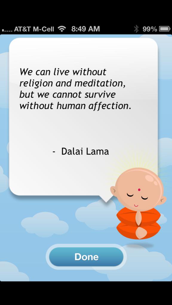 Gratitude app quote