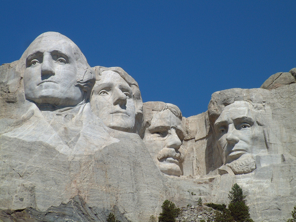 Presidents day rushmore